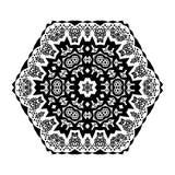 Flower Mandala Doodle Vector Designs Royalty Free Stock Images