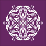 Flower Mandala Doodle Vector Designs Stock Images