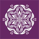 Flower Mandala Doodle Vector Designs Stock Images