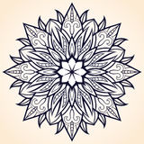 Flower Mandala. Ethnic pattern. Round Mandala of lines. Vector i Royalty Free Stock Photo