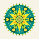 Flower Mandala Royalty Free Stock Photography