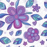 Flower mandala line ray purple style seamless pattern Royalty Free Stock Images