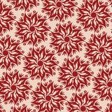 Flower Mandala Pattern - Beige and Red Colors Royalty Free Stock Images