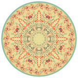 Flower Mandala. Vintage decorative element. Oriental and Chinese motif. Retro colors. Royalty Free Stock Images