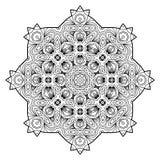 Flower Mandala. Vintage decorative elements. Stock Photo