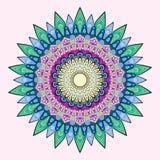 Flower Mandala. Vintage decorative elements. Oriental pattern, colored vector illustration. Stock Photo