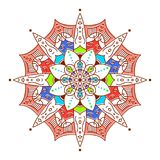 Flower Mandala. Vintage decorative elements. Oriental pattern, v. Ector illustration royalty free stock image