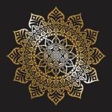 Flower Mandalas. Vintage decorative elements. Oriental pattern, vector illustration. Islam, Arabic, Indian, turkish, pakistan, chi royalty free illustration