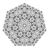 Flower Mandalas. Vintage decorative elements. Oriental pattern illustration Royalty Free Stock Photo