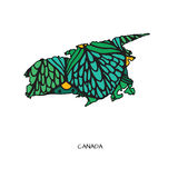 Flower map of Canada Stock Image