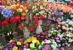 Flower market Royalty Free Stock Images