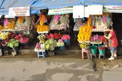 Flower market. Fresh flower in Ton Lum Yai market, Chiangmai, Thailand Stock Image