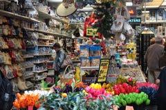 Flower Market in Amsterdam Stock Photos