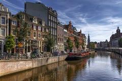 Flower market in Amsterdam stock images