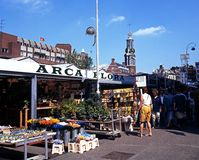 Flower market, Amsterdam. Royalty Free Stock Photography