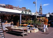 Flower market, Amsterdam. Royalty Free Stock Image