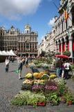 Flower Market in Brussels Stock Photo