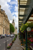 Flower Market on Cite island near Conciergerie in Paris, France Stock Photos