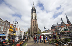 Flower Market in Delft, Holland Stock Images