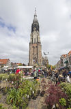 Flower Market in Delft, Holland Stock Image