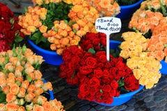 Flower market, Freiburg Stock Image