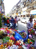 Flower market in India Royalty Free Stock Images