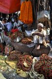Flower Market in Kolkata stock images