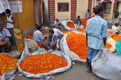 Flower Market in Kolkata stock photography