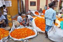 Flower Market in Kolkata royalty free stock photography