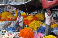Flower Market in Kolkata royalty free stock photo