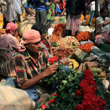 Flower Market, Kolkata Stock Images