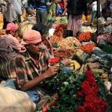 Flower Market, Kolkata Stock Images