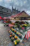 Flower Market. Lubeck Royalty Free Stock Photography