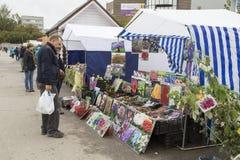 Flower market in Novgorod, Russian Federation Stock Photo