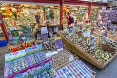 Flower market shop in Amsterdam Stock Photos