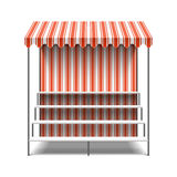 Flower market stall. Illustration on white vector illustration