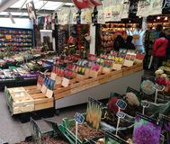 Flower market. Traditional flower market in Amsterdam city centre Stock Images
