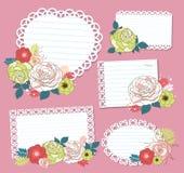 Flower memo Stock Image