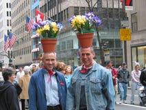 Flower men royalty free stock photography