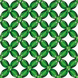 Flower Mesh emeralds seamless texture vector. Flower braided Mesh with emeralds on a white background. Seamless texture, vector Stock Photos