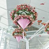 Flower mobile hanging pot Stock Photography