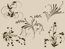 Flower monogram. Decoratively romantically abstraction illustration Royalty Free Stock Photos