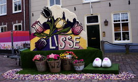 Flower mosaic in Lisse Stock Image