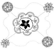 Flower motif for design Royalty Free Stock Images