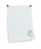 Flower motif on squared paper Stock Image