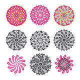 Flower motifs with heart shape Royalty Free Stock Images