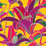 Flower multicolor seamless background. Stock Image