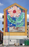 Flower Mural, Copenhagen Royalty Free Stock Image