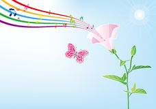Flower and music Royalty Free Stock Image