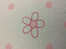 Flower on my shirt. Pink border flower Royalty Free Stock Image